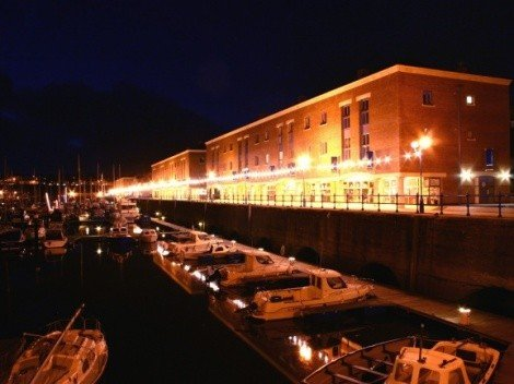 Milford Marina at night