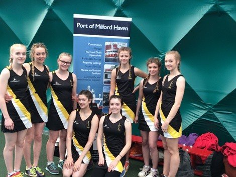 St David's Junior Netball U13s and U15s purchased new netball dresses after applying to the Port's Community Fund