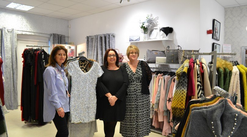 Owner of Boobaloo Boutique Jacquelyn Morrell (centre) with Rachel Stanmore and the Port's Property Manager Melanie Jenkins