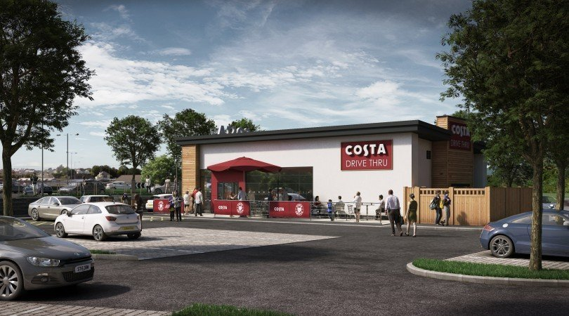 A Costa Coffee Drive-Thru is currently being constructed