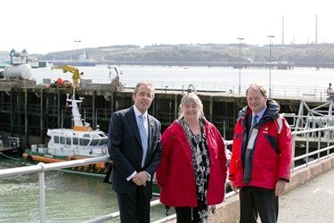 Minister Julie James was taken on a tour of the Port by boat and saw first-hand how the Port's deep-water facilities are providing jobs and opportunities for today and for the next generation