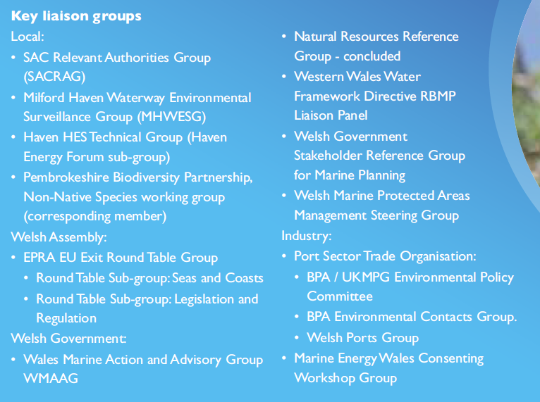 Port of Milford Haven's external liaison groups