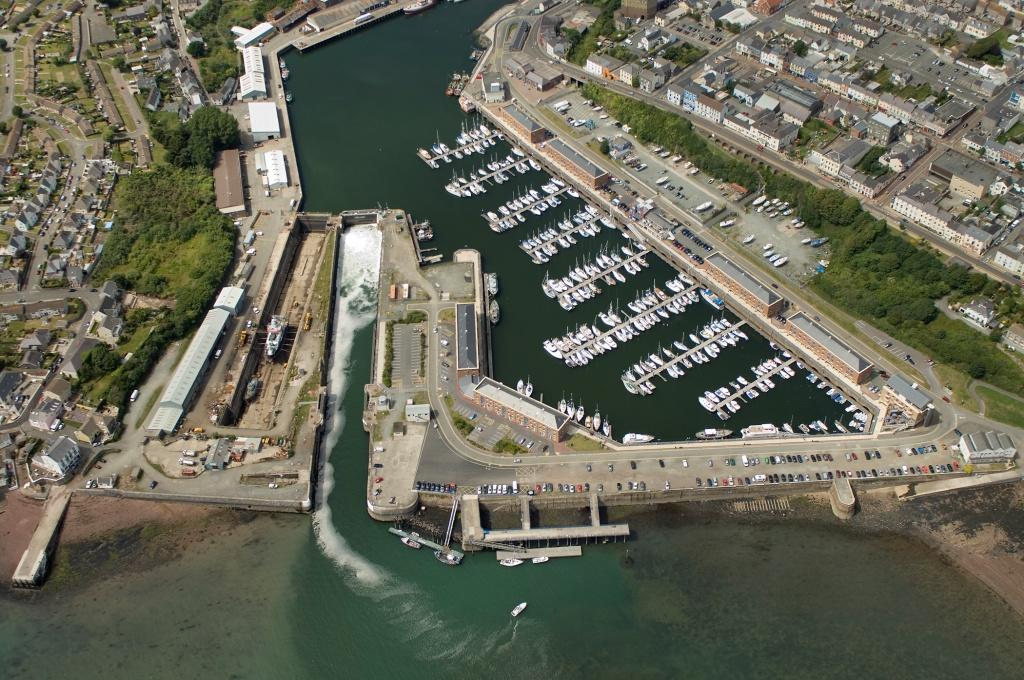 Aerial photo of Milford Docks
